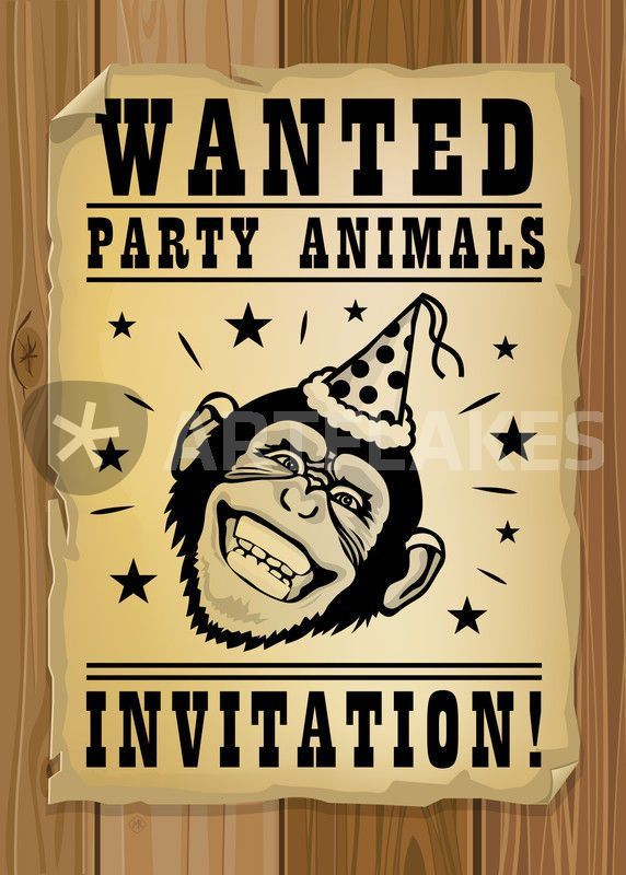 "Wanted, party animals"" Graphic/Illustration art prints and posters ..."