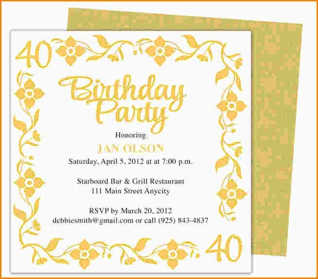 9+ birthday invite template word | paradochart
