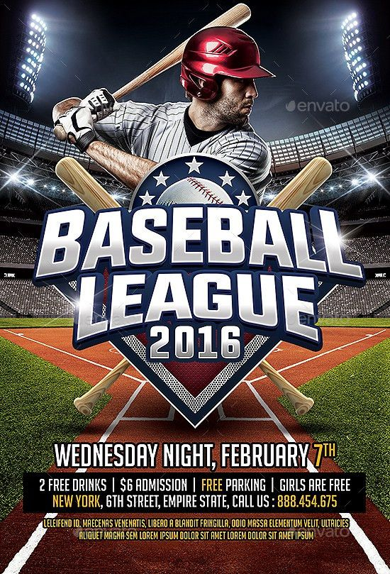 Baseball League Flyer Template by SmashingFlyers   GraphicRiver