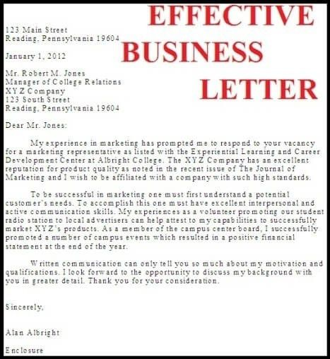 Writing Effective Business Letters | The Letter Sample