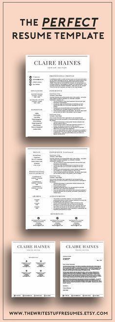 Modern resume template | minimal resume template | modern cv ...