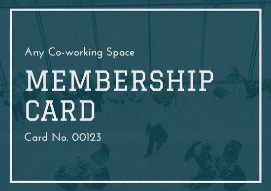 Blue White Modern Photo Membership ID Card - Templates by Canva