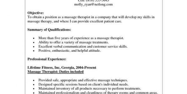 Entry Level Massage Therapist Resume Resume Examples for Massage ...