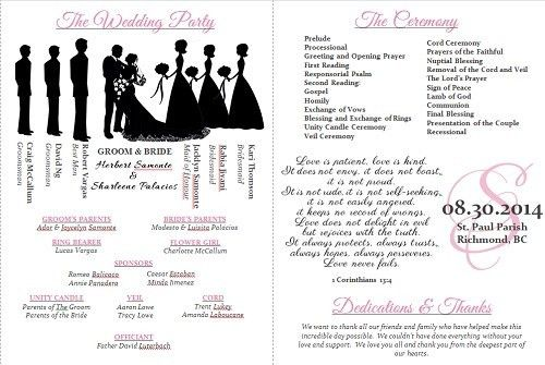 Wedding program templates - Weddingbee