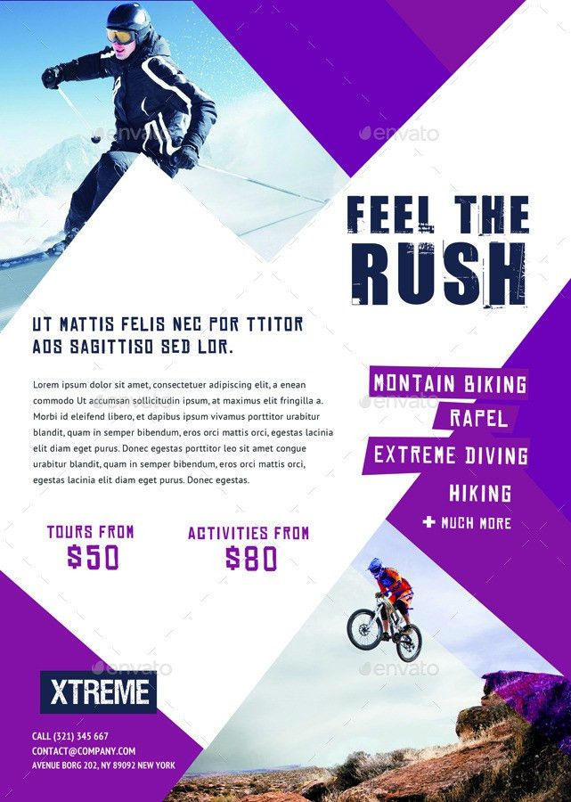 Extreme Sports Flyers / Magazine Ad by ingridk | GraphicRiver
