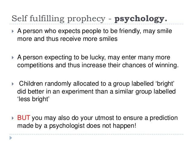 Self Fulfilling Prophecy Example E1a4 Self Fulfilling Prophecy As