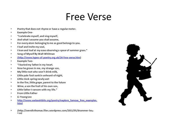 Examples Of Free Verse Poems About Yourself | MyPoems.Co