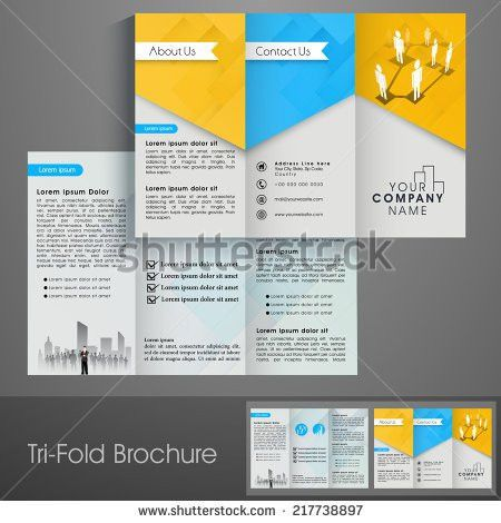 Business Brochure Set Design Template Folder Stock Vector ...