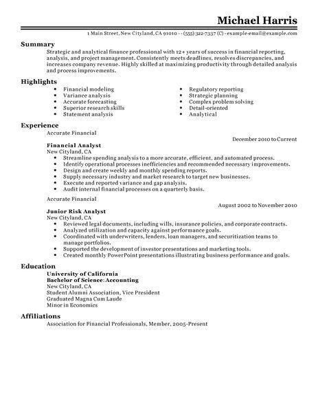 finance resumes examples advisor resume example resume sample 21