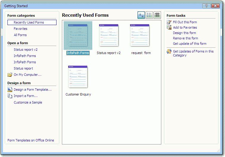 Preparing Microsoft Office InfoPath Templates to Use in Groove 2007
