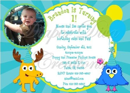 Moose & Zee Birthday Invitation