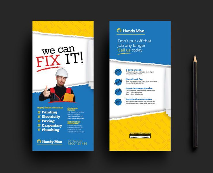 Handyman Flyer Template for Photoshop & Illustrator - BrandPacks