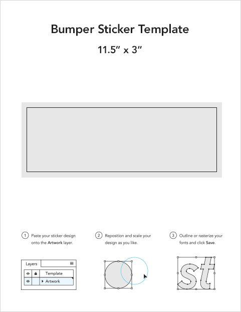Bumper sticker templates - Sticker Mule