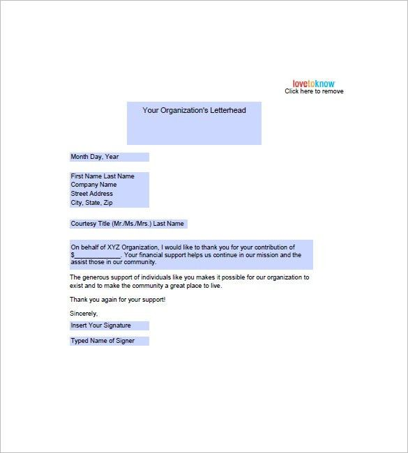 Sample Thank You Note – 9+ Free Word, Excel, PDF Format Download ...