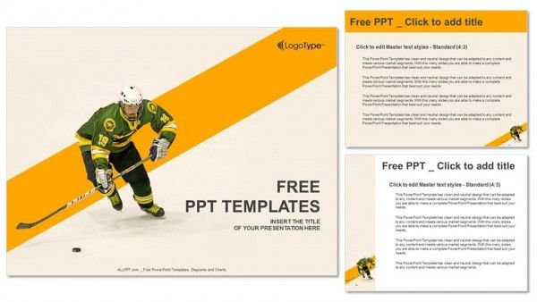 Ice hockey player PowerPoint Templates