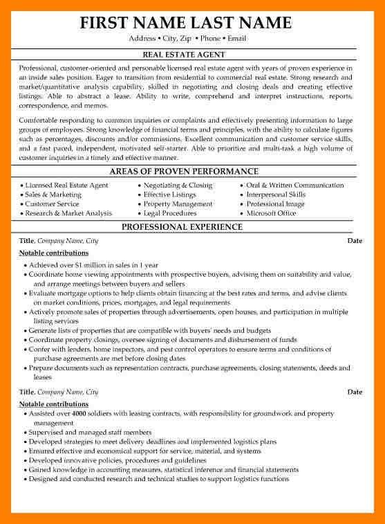 11+ cv real estate agent | producer resume