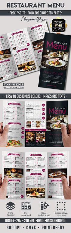 Restaurant Menu – Free PSD Tri-Fold PSD Brochure Template | Free ...