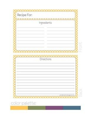 169 best Recipe Cards images on Pinterest | Printable recipe cards ...