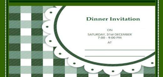 Invitation Templates – Printable Samples