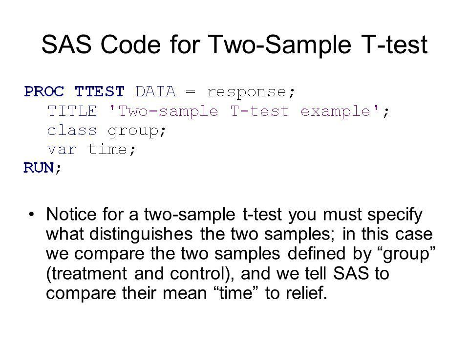 One-sample T-Test Matched Pairs T-Test Two-sample T-Test - ppt ...