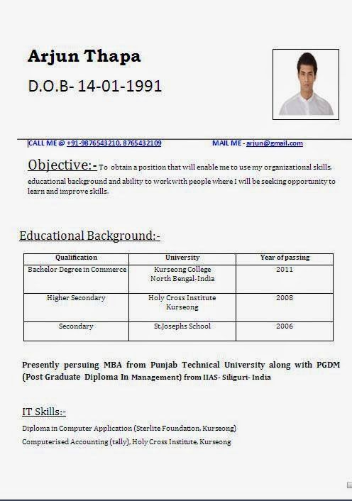 curriculum vitae template australia Sample Template Example ...