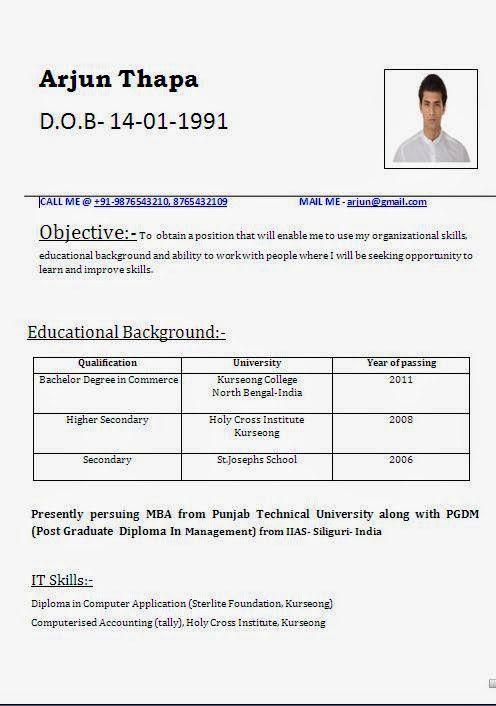 curriculum vitae template australia Sample Template Example ...