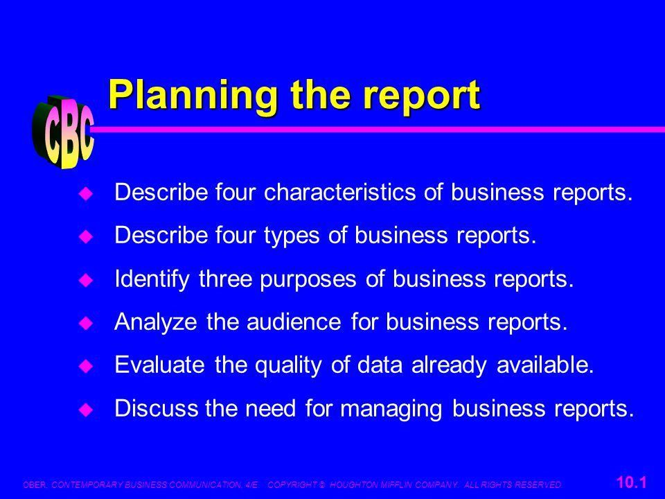 Planning the report CBC - ppt download
