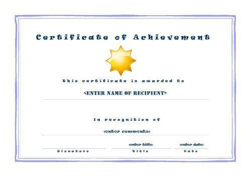 Certificate of Achievement 001