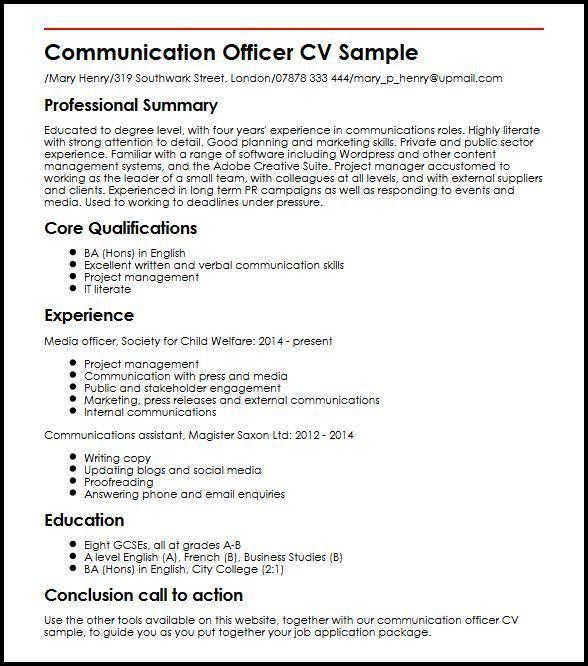 communication skills resume sample nonsensical communication