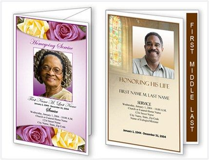 Funeral Program Templates – New Layouts and Designs from Elegant ...