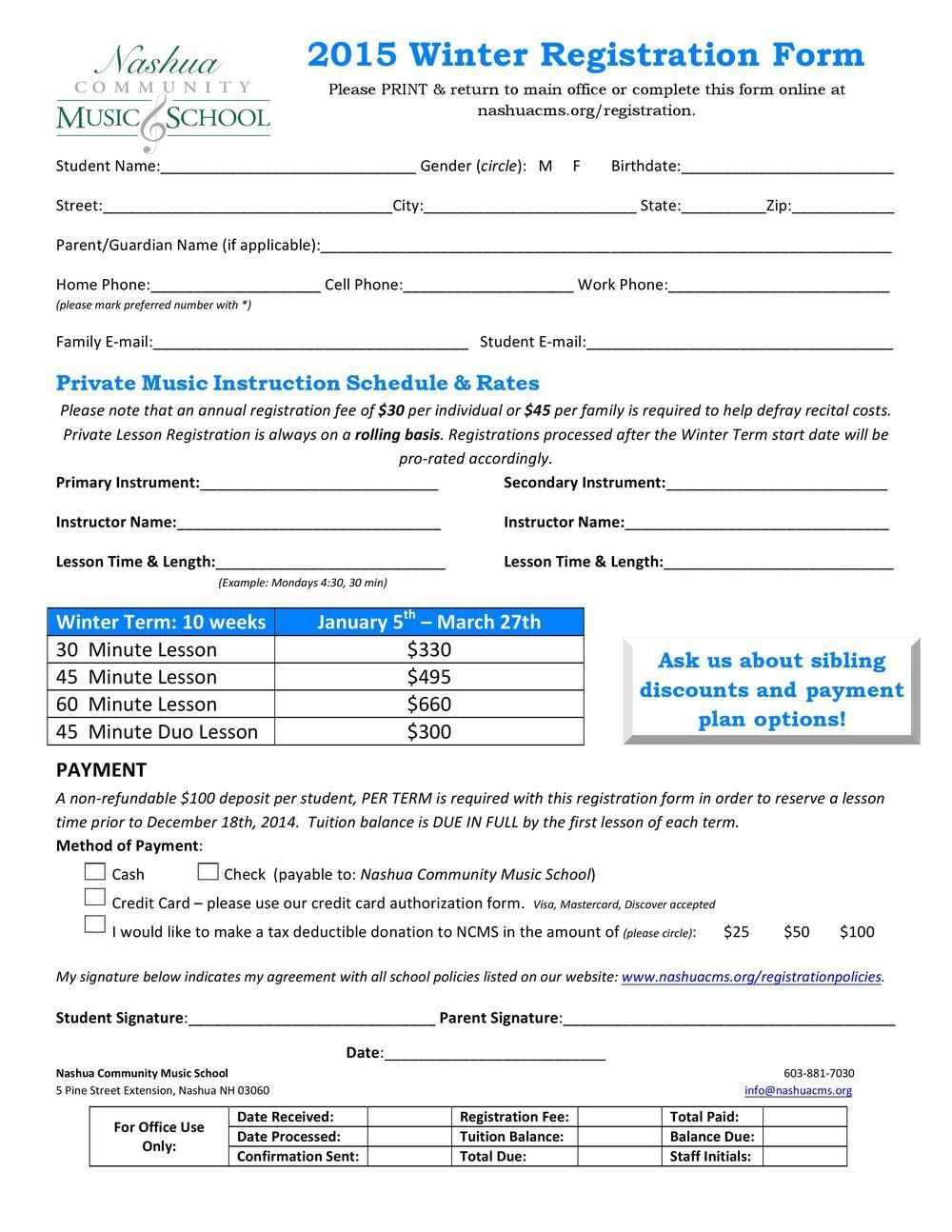 Winter 2015 Registration Form PDF View Only U2014 Nashua Community .