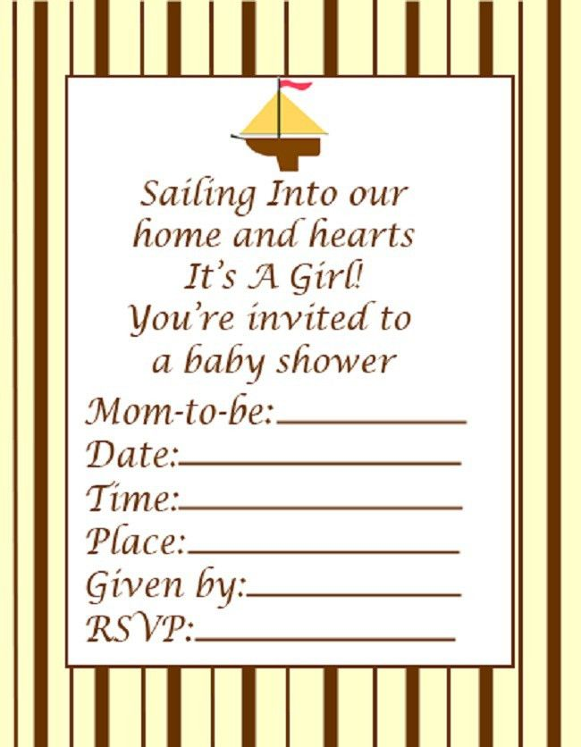 Blank Baby Shower Invitations Designs - Party Design Ideas