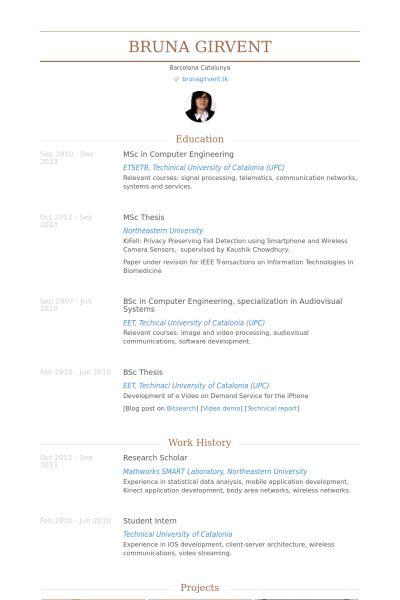 Research Scholar Resume samples - VisualCV resume samples database