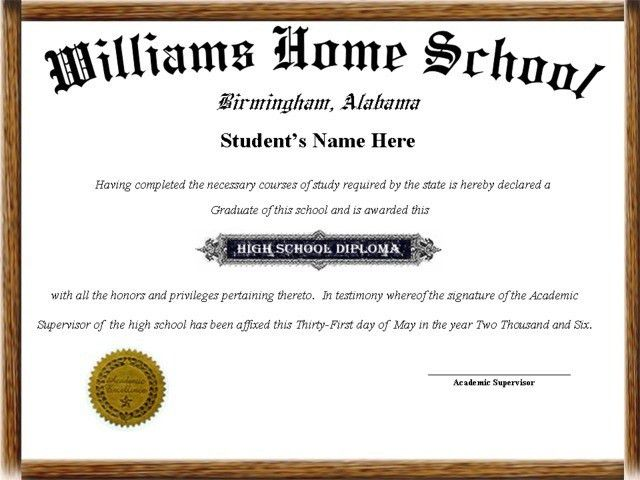 10+ High School Diploma Template Printables For Free!!