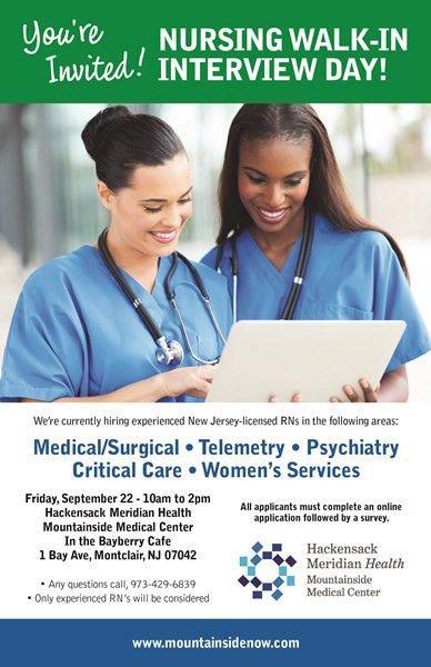 Hospital Career Opportunities | HUMC Mountainside | Mountainside