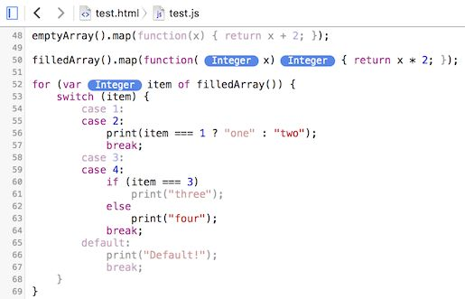 JavaScript Type and Code Coverage Profiling | WebKit