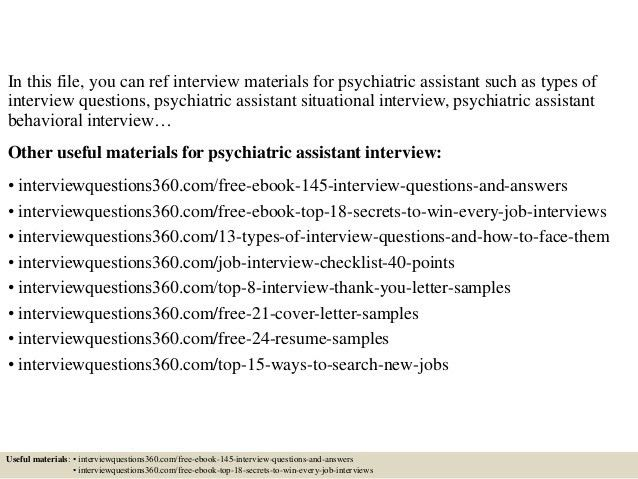 Top 10 psychiatric assistant interview questions and answers
