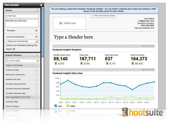 HootSuite Reinvents Social Analytics Reporting in Social Media ...