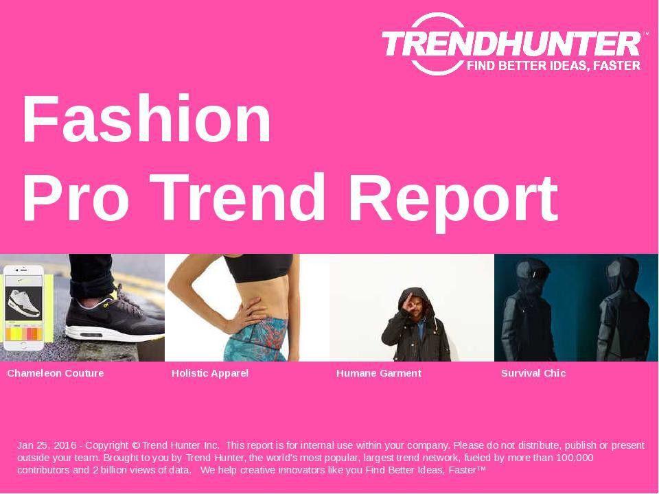 Fashion Trend Report & Custom Fashion Market Research