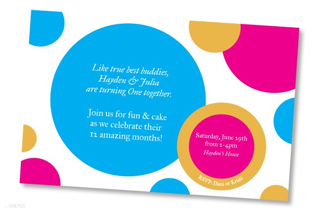 A Custom Designed First Birthday Party Invitation — Annie Franceschi