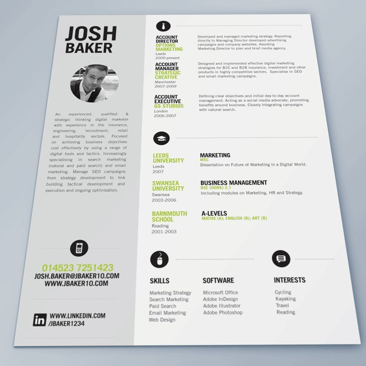 17 best Chic , modern resume / CV templates images on Pinterest ...