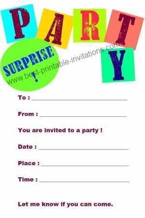 Birthday Invitations Free – gangcraft.net