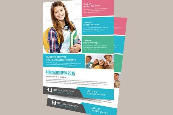 Education Flyer Template by TheGraphicsWorld on Creative Market ...