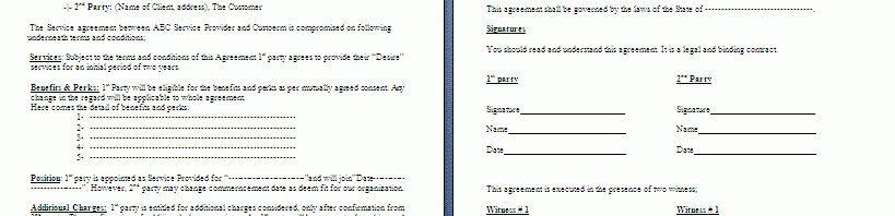 Free Word Consignment Contract Template | Free Contract Templates