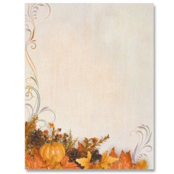 Swirls of Autumn PaperFrames Border Papers | PaperDirect