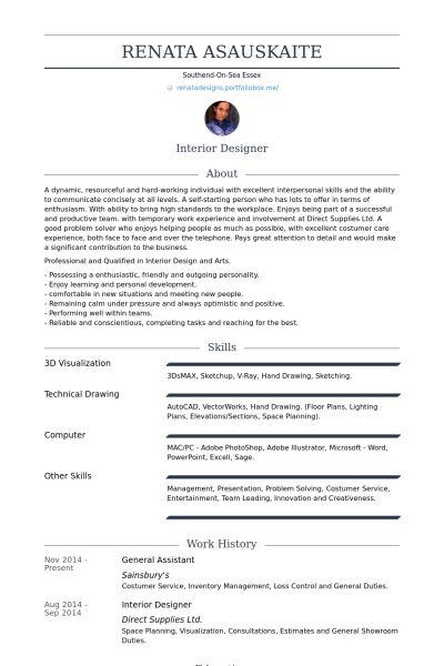 General Assistant Resume samples - VisualCV resume samples database