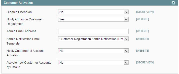 Customer activation - Customer Registration Form - Magento ...