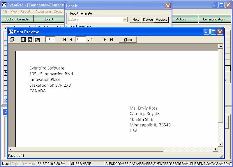 Envelope Label Template   Template Design