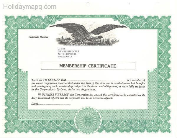 Stock certificate template - Map - Holiday - Travel HolidayMapQ.com