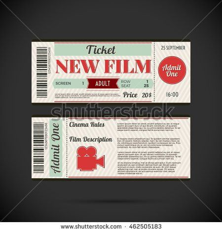 Event Ticket Template Stock Images, Royalty-Free Images & Vectors ...